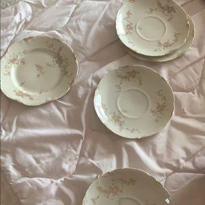 💥10/10-5 piece Warwick rose tea cup dish set